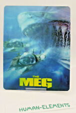 THE MEG - 3D LENTICULAR Flip Magnet Cover TO FIT bluray steelbook