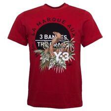Camisetas de hombre rojos rojos con algodón
