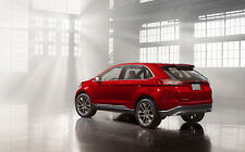 """FORD EDGE CONCEPT SIDE VIEW A1 CANVAS PRINT POSTER 33.1"""" x 21.4"""""""