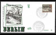 ALT BERLIN 1962 2x ERSTTAGSBRIEF FDC MINR 218 + 219 ERSTAUSGABE GESTEMPELT