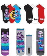 3 pairs Boys Girls Kids Children Child Fortnite Socks Size EU 27-40