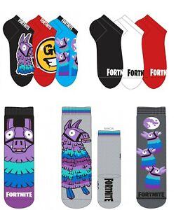 2 or 3 pairs Boys Girls Kids Children Child Fortnite Socks Size EU 27-40