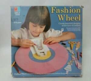 Vintage MB FASHION WHEEL from 80's Kids Toys Ages 6 to 12 years