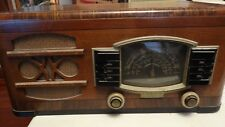 1941 Vintage Tube Radio table top Zenith Model 6G638 WORKING police short wave