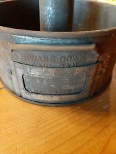"""Antique 1923 Swans Down Cake Pan 6 1/2"""" Bundt Angelfood Collectible Baking Pan"""