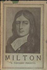 IL PARADISO PERDUTO di Milton versione di Lazzaro Papi - libro