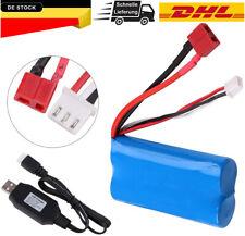 2S Lipo Battery 7,4V 2000mAh Akku 20C T Plug mit USB Ladegerät für RC Car Truck