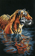 "Dimensions Counted Cross Stitch Kit 9""X14""Tiger Chilling Out (18 Count)"
