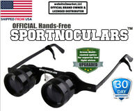 SPORTNOCULARS- Hands-Free Binocular Glasses for Opera,Fishing,Sports,Concerts,TV