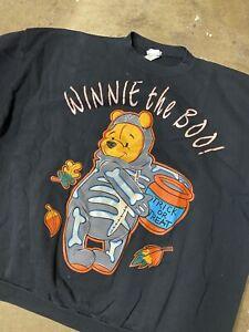 VTG RARE Disney Store Winnie The Pooh Halloween Crewneck Sweatshirt Size 3XL BOO