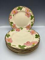 6 Franciscan Desert Rose Dinner Plates 11' Made in England