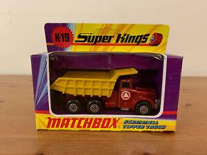 Matchbox Superkings K-19 Scammell Tipper Truck