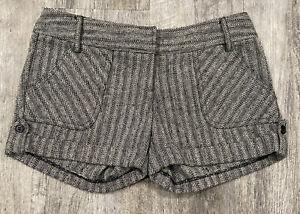 Charlotte Russe Womens Shorts Gray Black Size 5