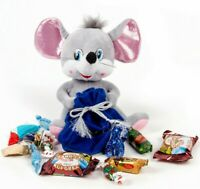 Mouse Plush Toy with Russian Candy Filled Bag SYMBOL 2020 Christmas New Year