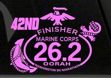 """42nd(2017) Marine Corps Marathon D.C.Finisher """" Pink """" color Decal Car"""