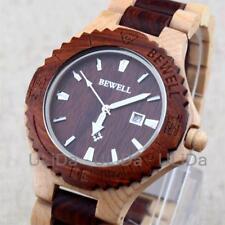 Natural Wood WOODEN watch Men's Wristwatch GIFT Handmade Maple Sandalwood BEWELL