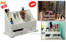 Cosmetic Organizer Wood Makeup Storage Jewelry Drawer Holder Bathroom Vanity New