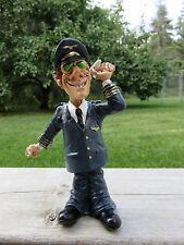 Airplane Pilot  Comical Figurine 7 IN.Warren Stratford Artist New Jet Aviation
