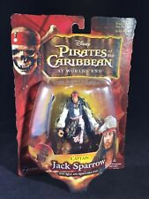 """Pirates of the Caribbean Captain Jack Sparrow With Rifle 3.75"""" Action Figure NOC"""