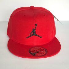 NEW Mens Jordan Baseball Cap Snapback Hat Red Adjustable