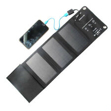 10W Solar Panel USB Battery Charger Power Bank Camping Hiking Backpack 5V