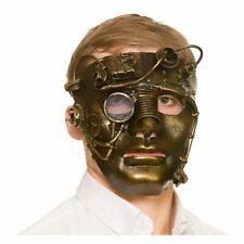 Adults Deluxe Steampunk Robot Mask Fancy Dress Halloween Antique Metal Gears