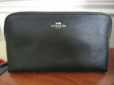 NWT Coach F57856 Cosmetic Case 22 Makeup Pouch Bag Leather Black $95