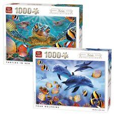 2 x 1000 pezzi di Mare Collezione Puzzle puzzes-TARTARUGHE IN MARE & quattro delfini