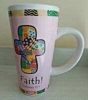 "TUMBLEWEED 16 OZ."" FAITH!"" HEBREW 11:1 CHRISTIAN COFFEE TEA MUG"