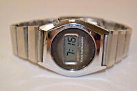 Nice Vintage Steel Metal Ti3H Texas Instruments Digital Working Wrist Watch Rare