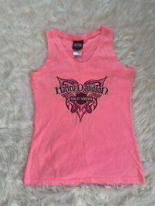 Women's Harley Davidson Pink Tank Top Shirt Size Medium