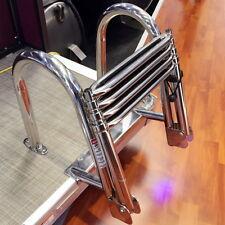 Stocking Stainless Steel Inboard Rail Boat 4 Step Telescoping Ladder Dock Ladder