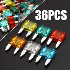 36pcs Automotive Mini Blade Fuses Car Truck SUV Fuse Kit Set 7.5 10 15 20 25 30A