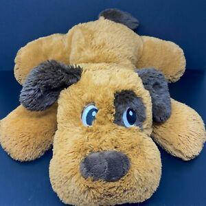 "Dan Dee Brown Dog Plush Pillow 22"" Floppy Jumbo Stuffed Laying Down FAST SHIP"