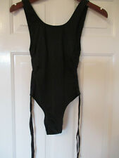 SLNGHR black one piece swimsuit with tie sides - new with tags - size XS