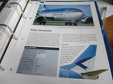 Airlines Archiv Estland Estonian Air Baltic Collectopn 2S