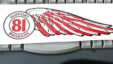 Hells Angels Supporter wing Large 10 inch sticker (facing left)