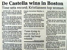 1986 newspaper Australian ROBERT De CASTELLA &  KRISTIANSEN WIN BOSTON MARATHON