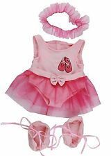 "Pink ballerina with tutu outfit teddy bear clothes fits 15"" Build a Bear"