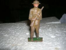 GREY IRON  US DOUGHBOY 1930 ANTIQUE G25 EARLY WWI TOY SOLDIER DIMESTORE