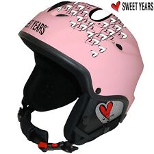 Casco da sci Snowboard bici con Cuffie integrate Mp3 Taglia M Sweet Years Nero