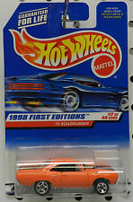 1998 1970 PLYMOUTH ROADRUNNER ORANGE 1ST EDITION MOPAR GTX 661 17 HW HOT WHEELS
