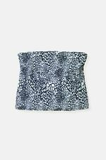 Womens George black white leopard animal pattern bandeau shelf bra top Size 20