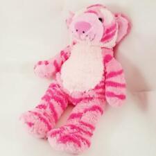 "Teddy Mountain 18"" Pink Tiger Plush Striped Cat Soft Build A Stuffed Animal Bear"
