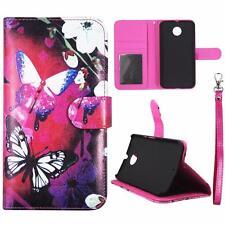 For Motorola Moto X X2 2nd Gen Wallet Whit Flower Cover Split Leather Case Uni