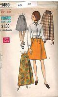 7450 UNCUT Vintage Vogue Sewing Pattern Misses Dirndl or A Line Skirt OOP W 27