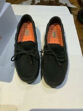 Mens Swims Boat Loafer Shoes. Black Graphite Fleck. Uk 8 EU 42 . RRP £125