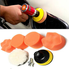 "7pcs 3"" Car Care High Gross Polishing Buffer Pad Set + Drill Adapter Polish Tool"