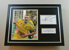 Andriy Shevchenko Signed Photo Framed 16x12 Autograph Ukraine Display + COA