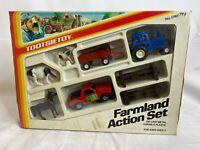 NEW Vintage 1985 Tootsietoy Farmland Action Toy Set #1748 - Die-Cast Metal